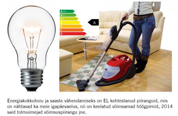 energakokkuhoiu tagamiseks kehtestas EL piirangud hooglampidele ja tolmuimejatele